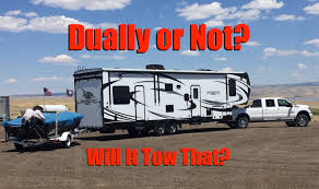 Ford F350 Dump Truck Gvw - will it tow that can i get away without a dually truck to tow a