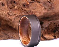 koa wedding bands koa wood ring etsy