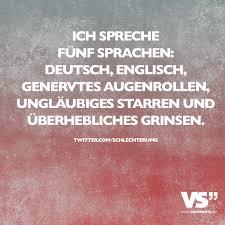 ich spr che ich spreche fünf sprachen englisch genervtes