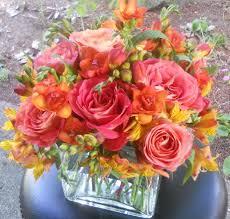 Square Glass Vase Flower Arrangement In Square Vase Accents Et Cetera