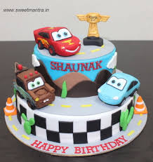 lightning mcqueen cakes disney pixar cars lightning mcqueen theme customized 2 layer