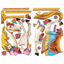 carousel horse giant removable wall decal wall2wall carousel horse giant removable wall decal