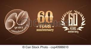 60 years anniversary 60 years anniversary set of vector logo icon number 60th
