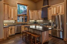 stained kitchen cabinets with hardwood floors 7 hickory cabinets with wood floors ideas to create a