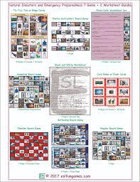 Emergency Preparedness Worksheet Disasters Emergencies 7 2 Ws Bundle Esl