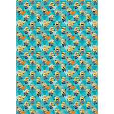 despicable me minions wrapping paper 4m gift wrap b m