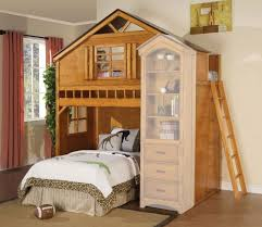 acme 10160 montana rustic oak tree house loft bed