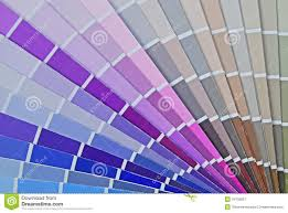 Shades Of Purple Chart by Color Fan Chart For House Paint Royalty Free Stock Photography