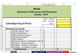 Free Accounting Spreadsheets by Church Accounting And Free Financial Spreadsheets