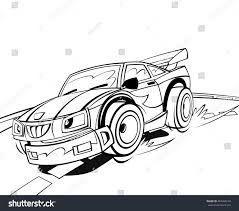 cartoon car drawing cartoon scene speeding car sports car stock illustration 453460159