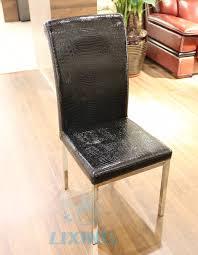 Effezeta Chairs by Black Crocodile Leather Dining Chair Black Crocodile Leather