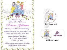 free princess birthday invitation ecards template