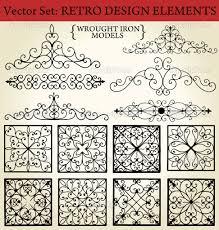 home design elements llc download wrought iron retro design elements u2014 stock