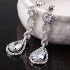 Huge Chandelier Earrings Long Drop Rhinestone Bridal Earrings Nz Buy New Long Drop
