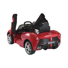 ferrari horse png licensed la ferrari electric ride on toy car 1 4 lights 6v battery