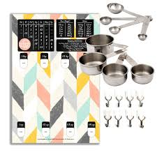 baking buddy kitchen organizer with stainless steel cups and