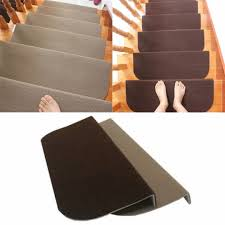 Stair Tread Covers Carpet 13pcs Non Slip Carpet Stair Treads Mats Staircase Step Rug
