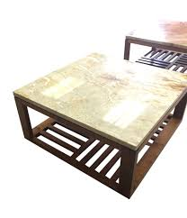 cream marble u0026 walnut coffee table contemporary mid century