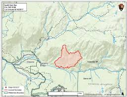 Wildfire Map National by Updates On South Fork Fire In Yosemite National Park For Tuesday
