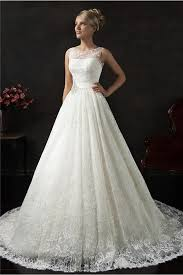 vintage lace wedding dress gown bateau neck v back vintage lace wedding dress with sash