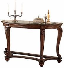 ashley furniture glass top coffee table amazon com ashley furniture signature design norcastle glass top