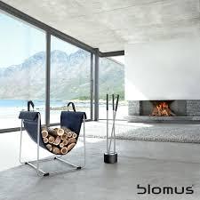 blomus madra fabric log basket black black by design