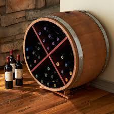 furniture reclaimed half barrel x wine rack wine with wood