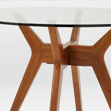 Jensen Round Glass Dining Table West Elm AU - Glass top dining table adelaide