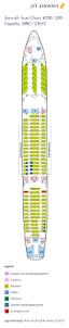 A340 Seat Map Fleet Information