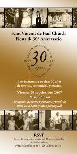 Salon Invitation Card 30th Anniversary Celebration Envelope Insert Invitation St