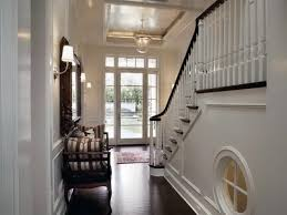 Entry Room Design Cool Entry Room Decorating Idea With Black And White Staircase