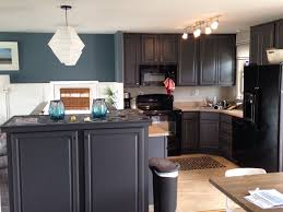 slate blue painted kitchen cabinets my kitchen blue slate walls and peppercorn cabinets by
