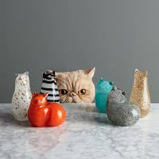 Cat Laying On Glass Table St Jude Glass Cat Objects West Elm