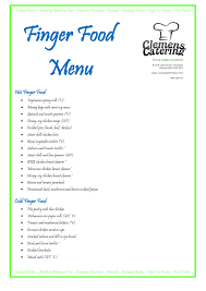 wedding food menu template wedding