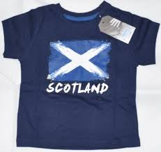 Blue And White Flag Cross Boys Scottish Flag T Shirt Saltire St Andrews Cross Navy Primark
