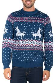 blue reindeer sweater tipsy elves