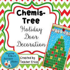 chemis tree door decoration by erica s science store