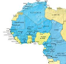 Africa Map Countries by French West Africa Nations In Blue Are Former Colonies Of France