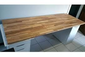 plateau bois pour bureau bureau sur mesure avec plateau en orme