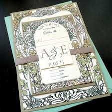 botanical garden wedding invitation sets art nouveau art deco