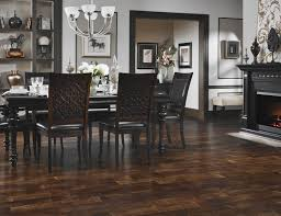 luxurious dining room interior design with dark hardwood floors
