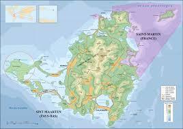 map of st martin villa falaise des oiseaux st martin large map