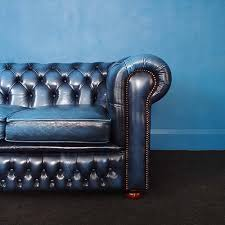 blue chesterfield sofa antique blue chesterfield sofa bun unique vintage industrial
