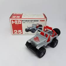 tomica mitsubishi tomica made in japn no 25 mitsubishi jeep bigfoot blue