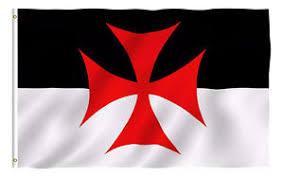 knights of templar masonic 3x5 polyester flag black white