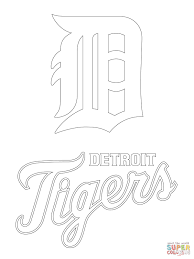 detroit tigers logo coloring page free printable coloring pages