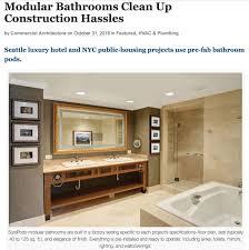 Prefab Construction Modular Bathrooms Clean Up Construction Hassle Oldcastle Surepods