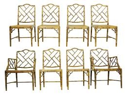 Style Dining Chairs Faux Bamboo Chippendale Style Dining Chairs Oneandhome