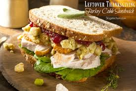 thanksgiving leftovers idea roasted turkey cobb sandwich recipe