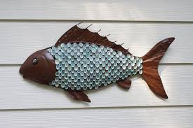 metal fish art img1099 awesome metal fish wall art nz outdoor